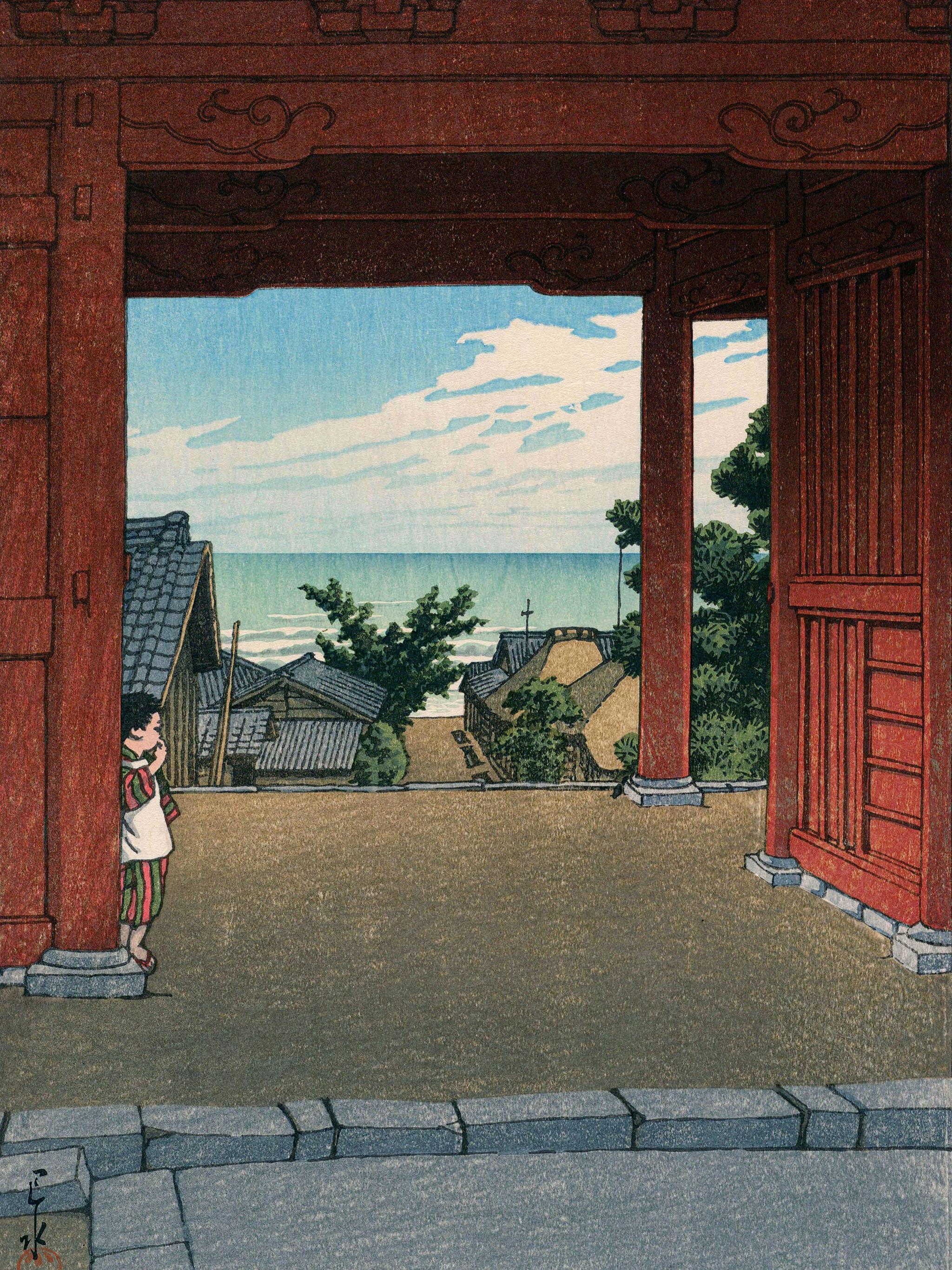 Kawase Hasui - boshu hamaogi tamon ji 2048x2732