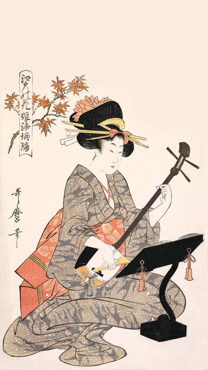 Kitagawa Utamaro - Edo no hana musume joururi kouyou 1080x1920