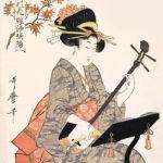 喜多川歌麿 / 江戸の花 娘浄瑠璃 紅葉