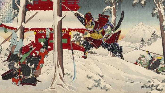 Mizuno Toshikata - Minamoto no yoshitsune 1920x1080