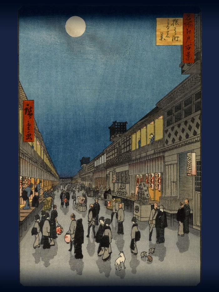 Utagawa Hiroshige - Saruwakacho yoru no kei 2048x2732