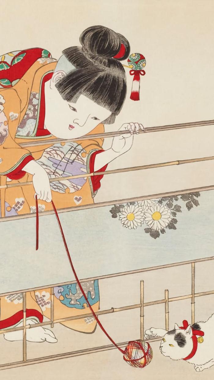 Yoshu Chikanobu - yochien neko dyashi 1080x1920