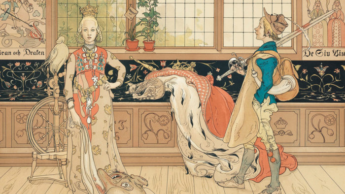 Carl Larsson - St. George and the Princess 1920x1080