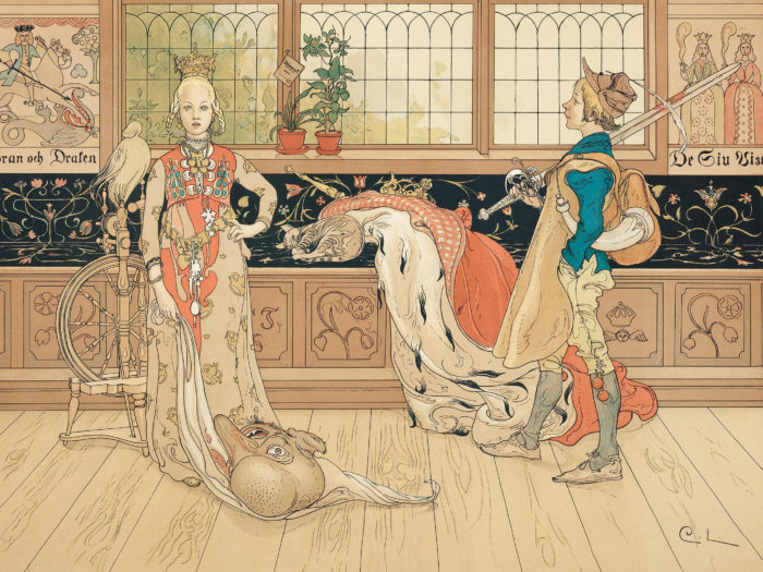 Carl Larsson - St. George and the Princess 2732x2048
