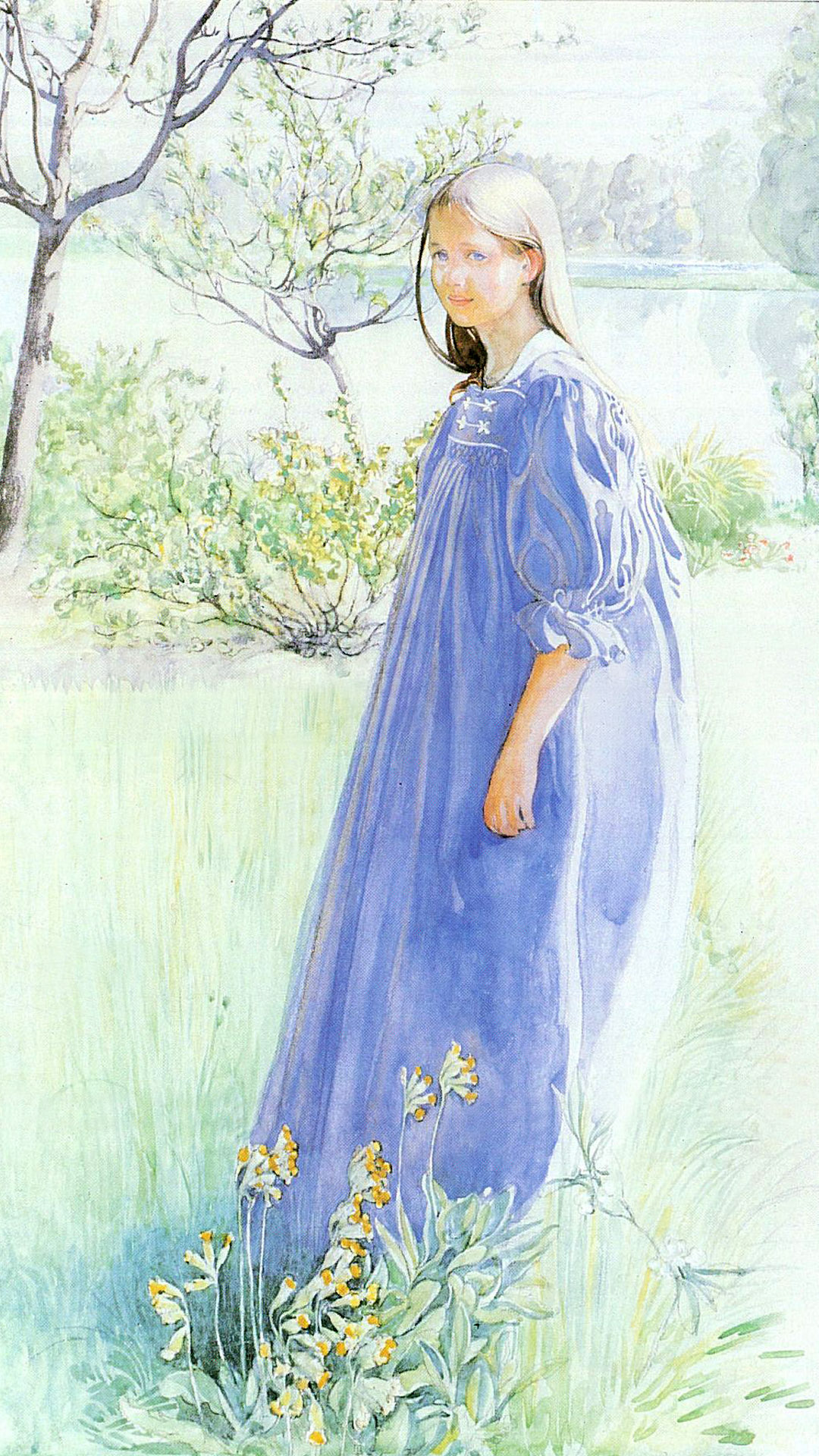 Carl Larsson - Sun and flowers 1080x1920