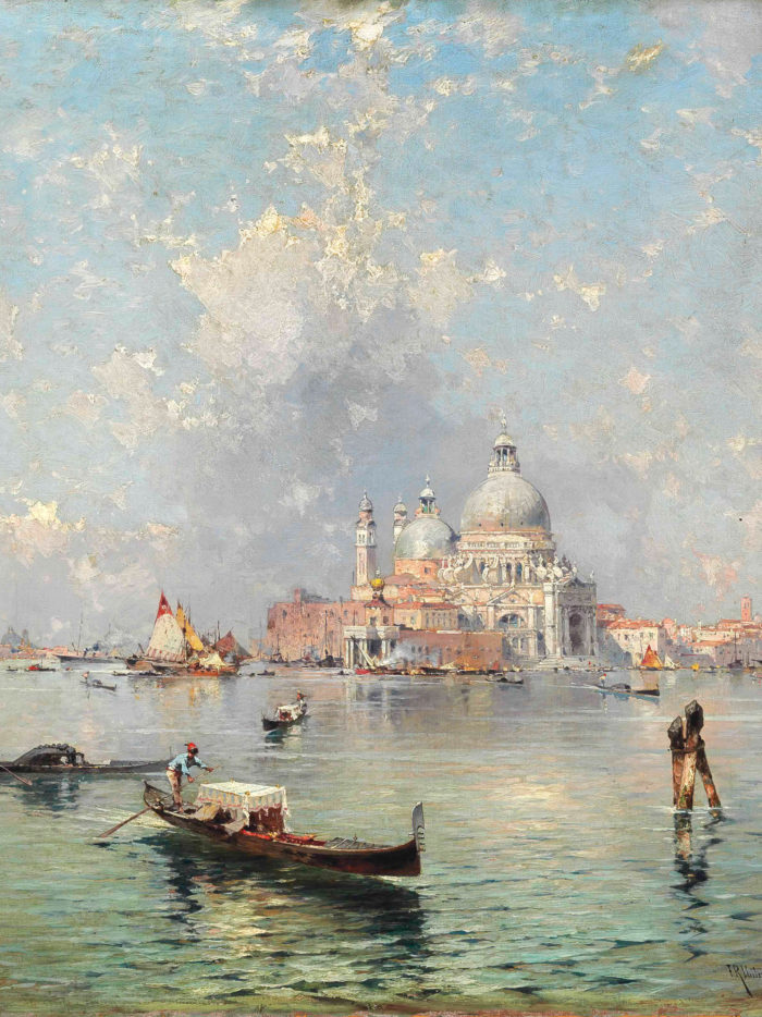 Franz Richard Unterberger - Gondolas in front of the Santa Maria della Salute, Venice 2048x2732