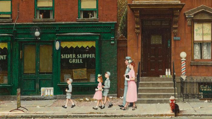 Norman Rockwell - Walking to Church 1920x1080