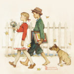 ノーマン・ロックウェル / Young Love Walking to School