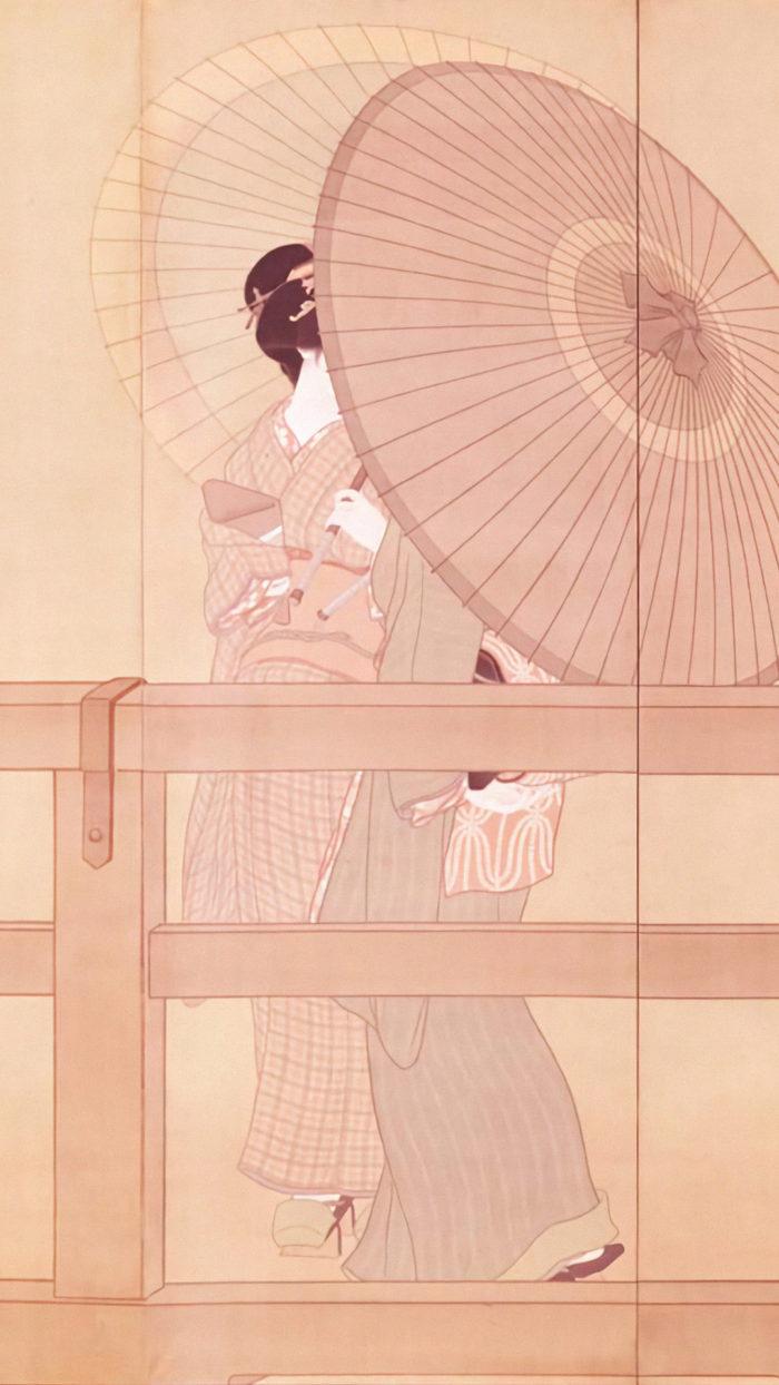 Shimomura Kanzan - Shun u zu byobu 1080x1920