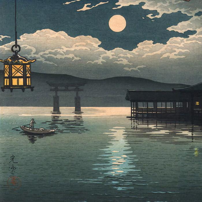Tsuchiya Koitsu - Summer Moon at Miyajima d