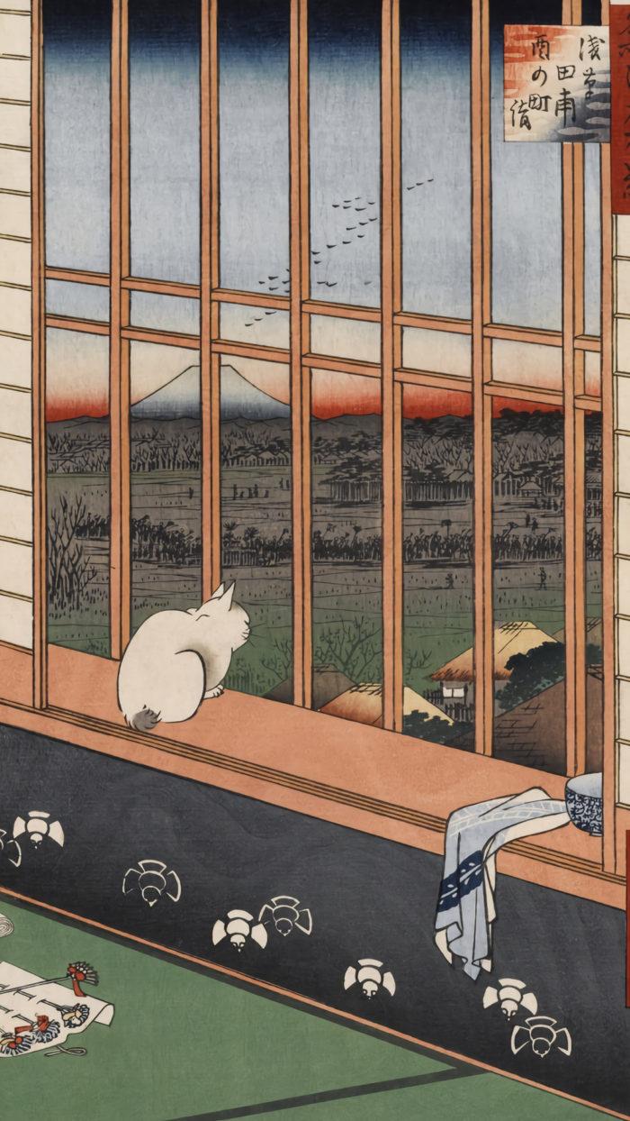 Utagawa Hiroshige - Asakusa tanbo tori no machimoude 1080x1920