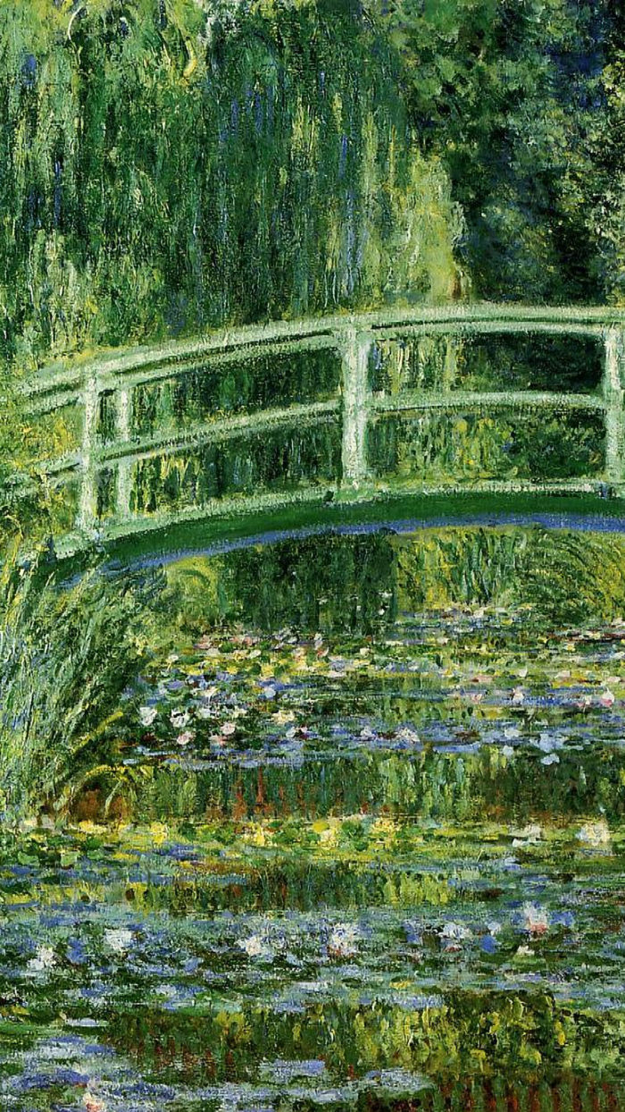Claude monet - Water Lilies and Japanese Bridge 1080x1920