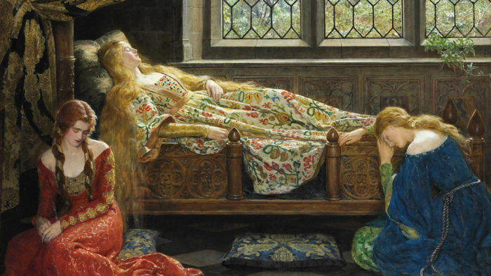 John Collier - Sleeping_Beauty 1920x1080