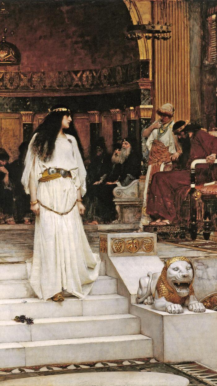 John William Waterhouse - Mariamne Leaving the Judgement Seat of Herod 1080x1920