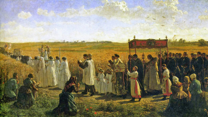 Jules Breton - The Blessing of the Wheat in Artois 1920x1080