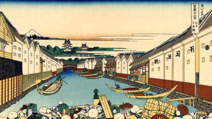 Katsushika Hokusai - 36 Edo Nihonbashi 1920x1080 2