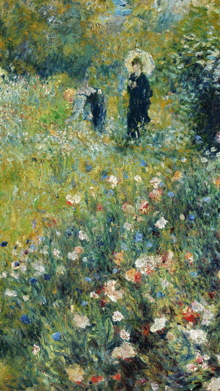Renoir - Woman with a Parasol in a Garden 1080x1920