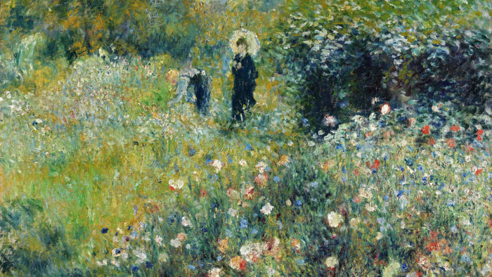 Renoir - Woman with a Parasol in a Garden 1920x1080