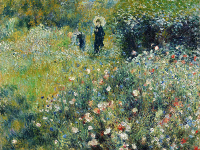 Renoir - Woman with a Parasol in a Garden 2732x2048