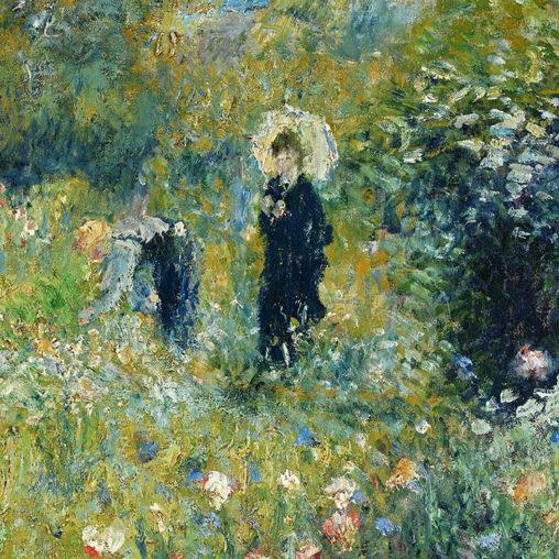 Renoir - Woman with a Parasol in a Garden d