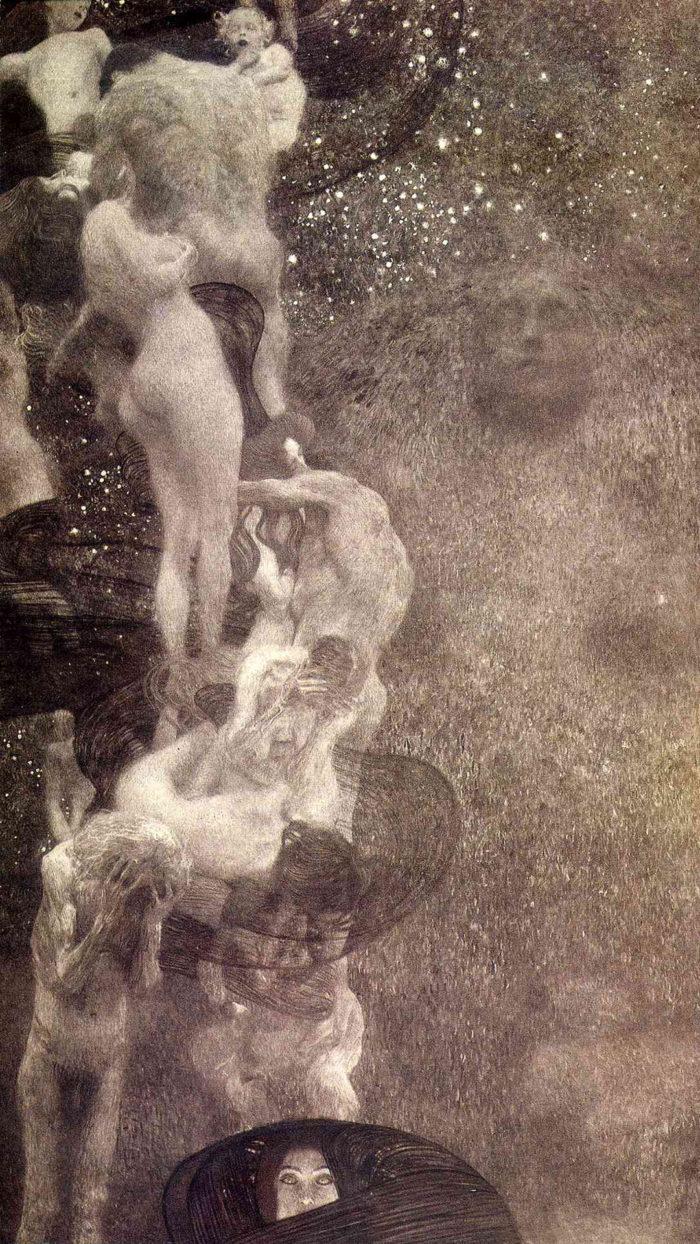 gustav klimt - Philosophy 1080x1920