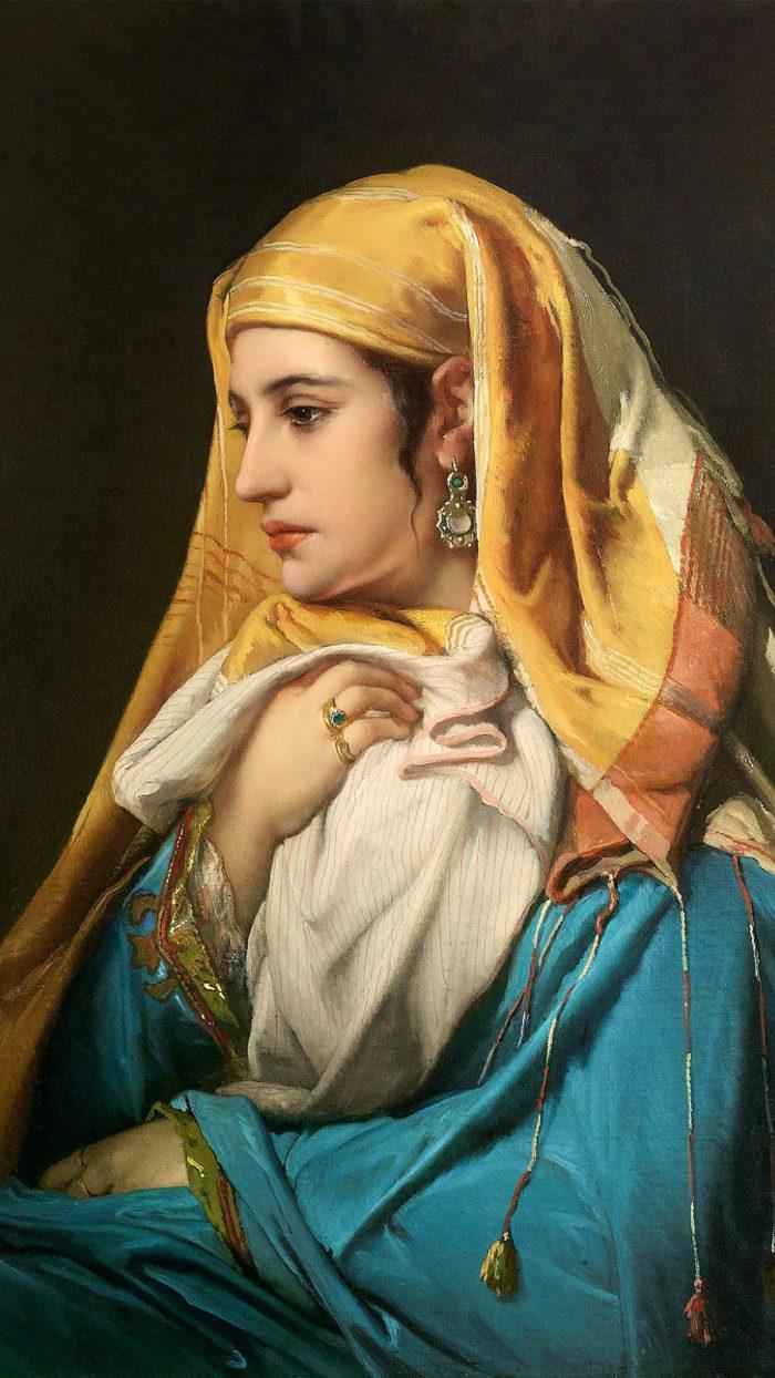 Jean François Portaels - Oriental Lady 1080x1920