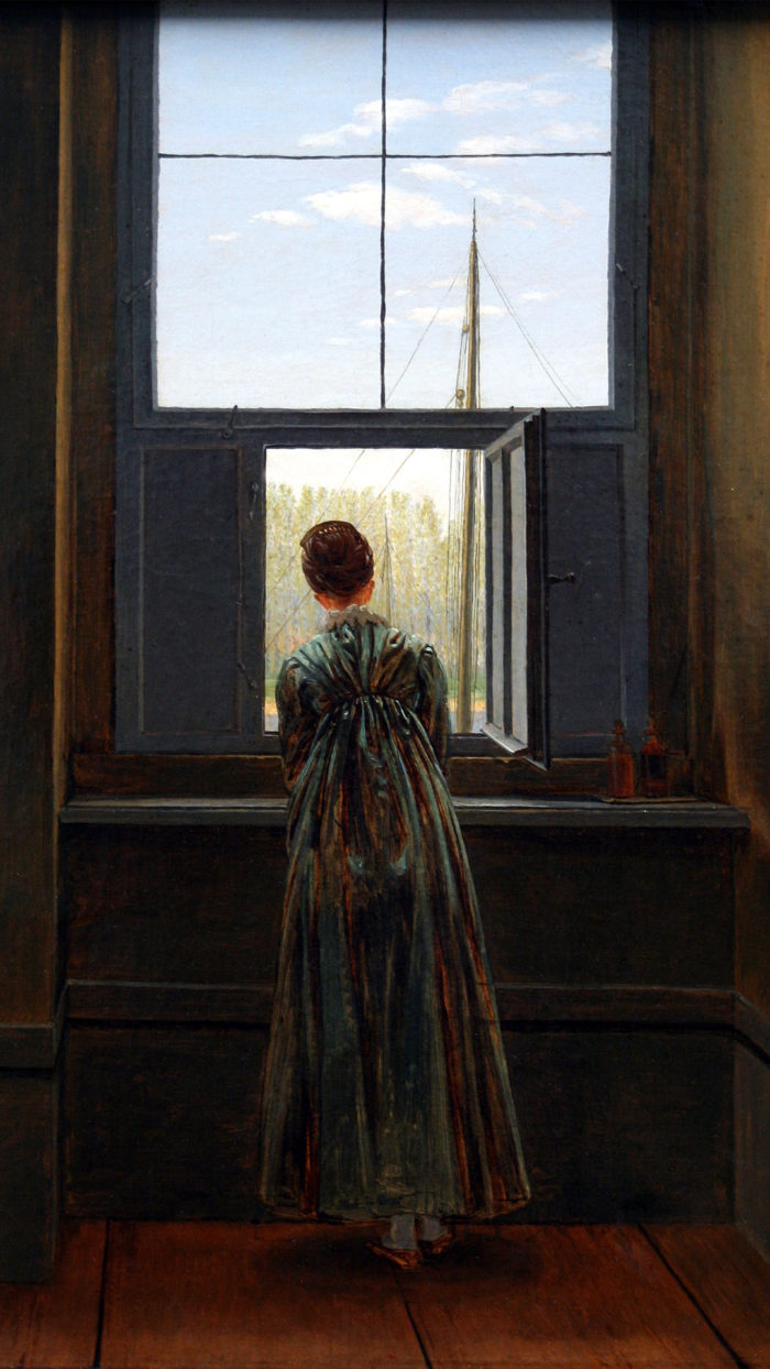 Caspar David Friedrich - Woman at a Window 1080x1920