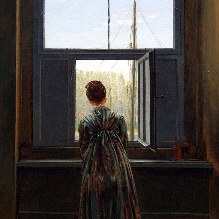 Caspar David Friedrich - Woman at a Window d