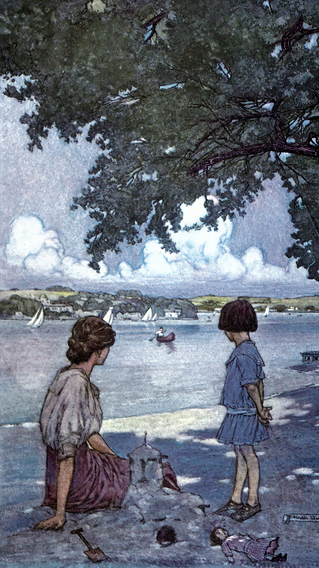 Franklin Booth - approaching canoe 1080x1920