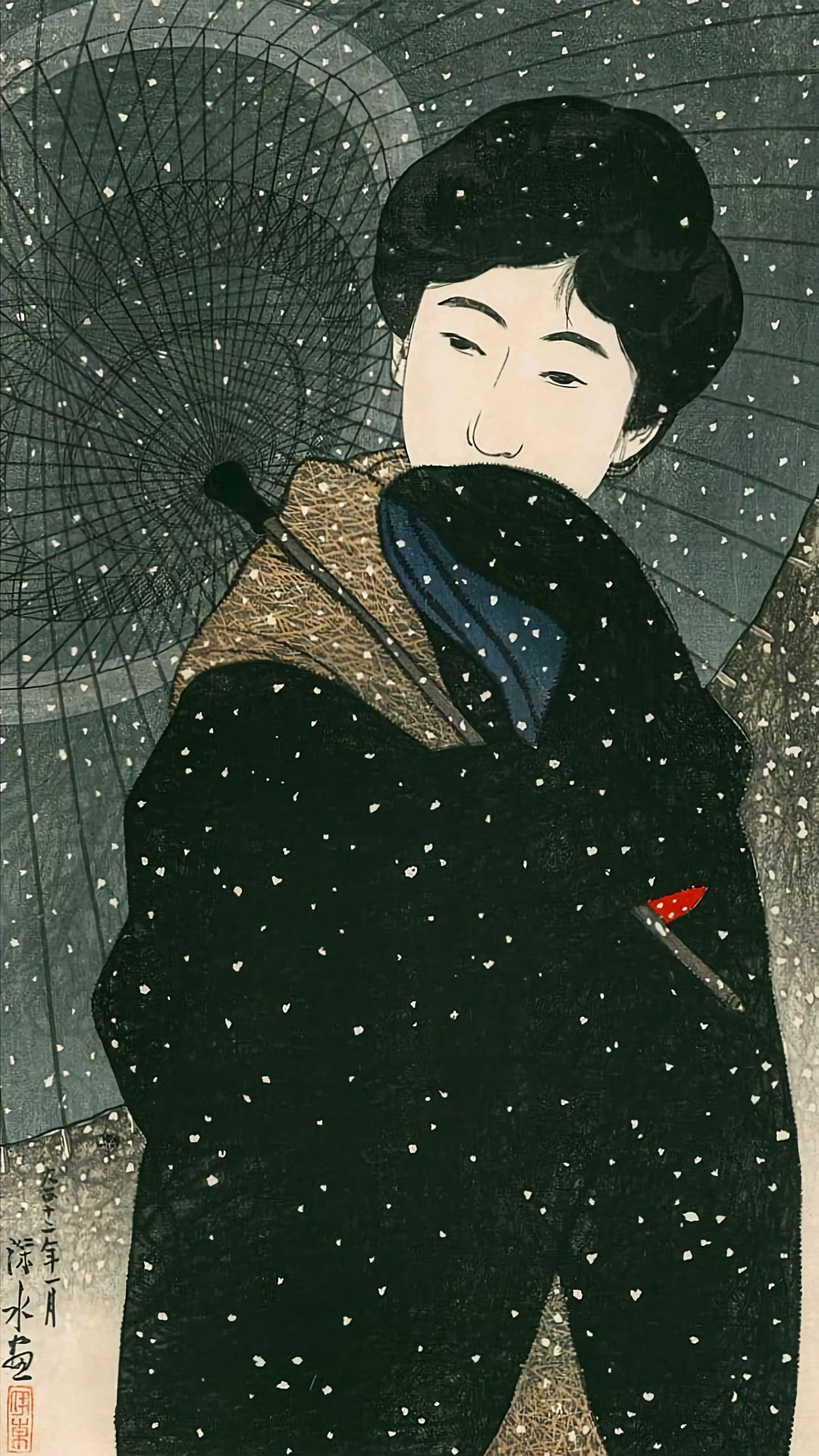 Ito Shinsui - Yoru no yuki 1080x1920