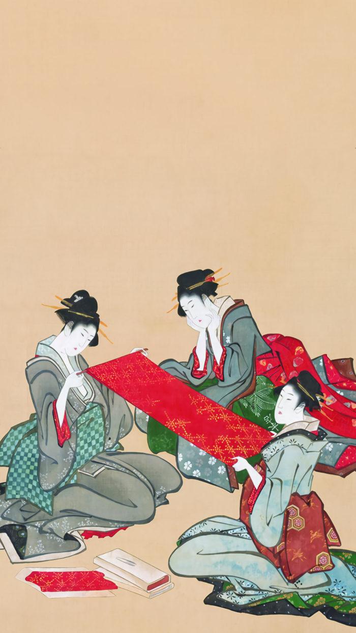 Katsushika Hokusai - Gobijin zu 1080x1920