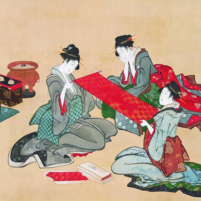 Katsushika Hokusai - Gobijin zu d