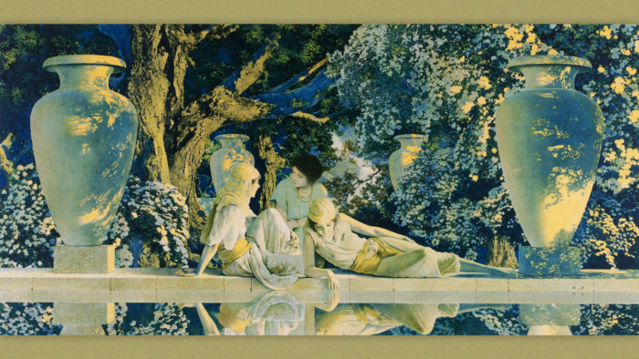 Maxfield Parrish - Garden of Allah 1920x1080