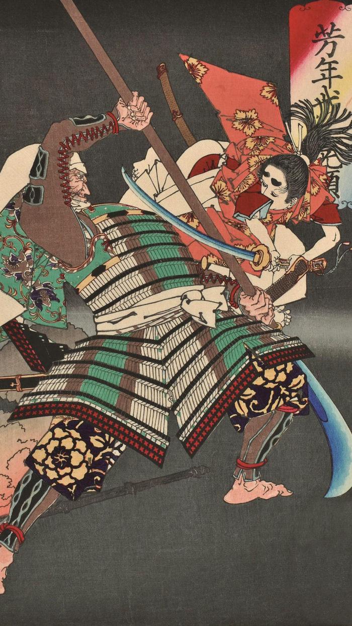 Tsukioka Yoshitoshi - Ushiwakamaru chohan 1080x1920