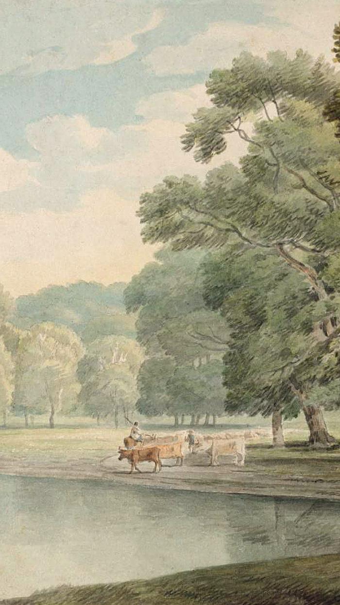 Francis Towne - In Kensington Gardens 1080x1920