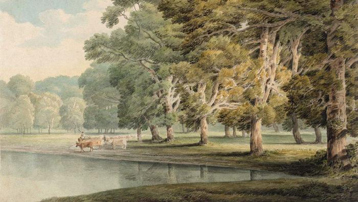 Francis Towne - In Kensington Gardens 1920x1080