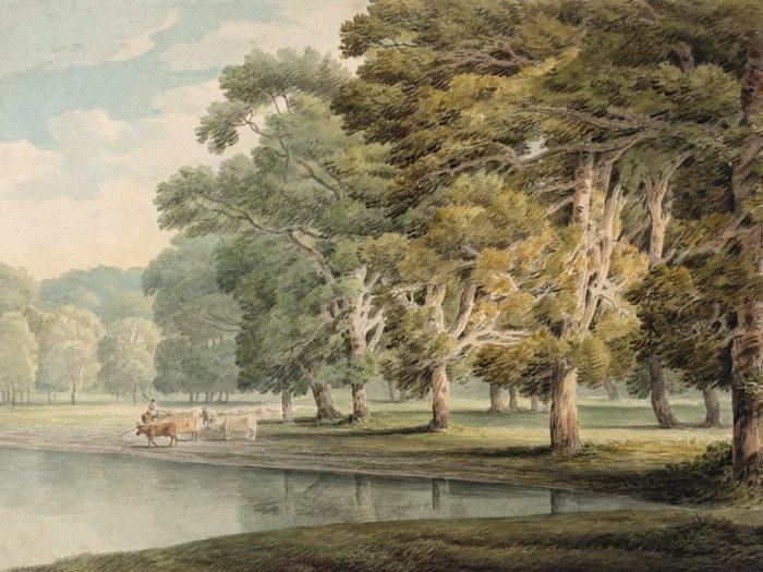 Francis Towne - In Kensington Gardens 2732x2048