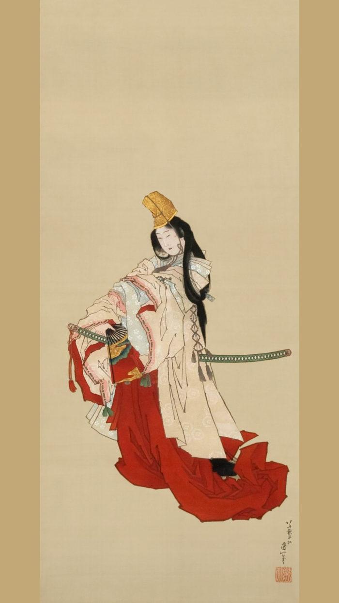 Katsushika Hokusai - Shirabyoshi 1080x1920