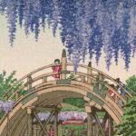川瀬巴水 / 亀戸の藤