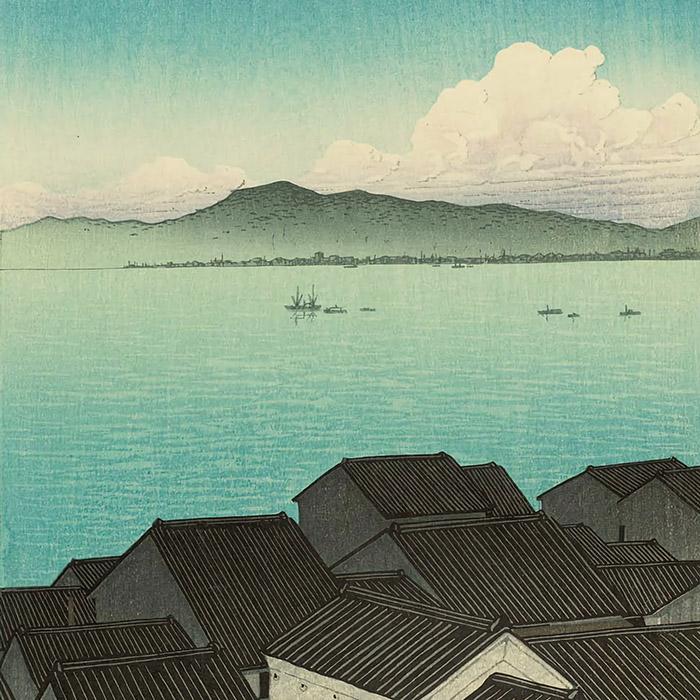 Kawase Hasui - Suruga okitsu cho d