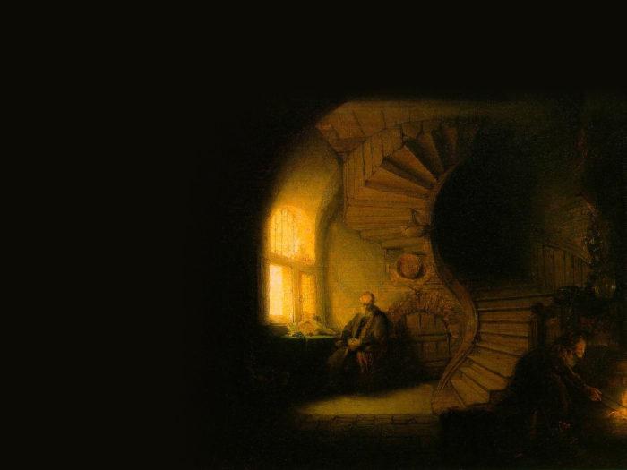 Rembrandt - Philosopher in Meditation 2732x2048