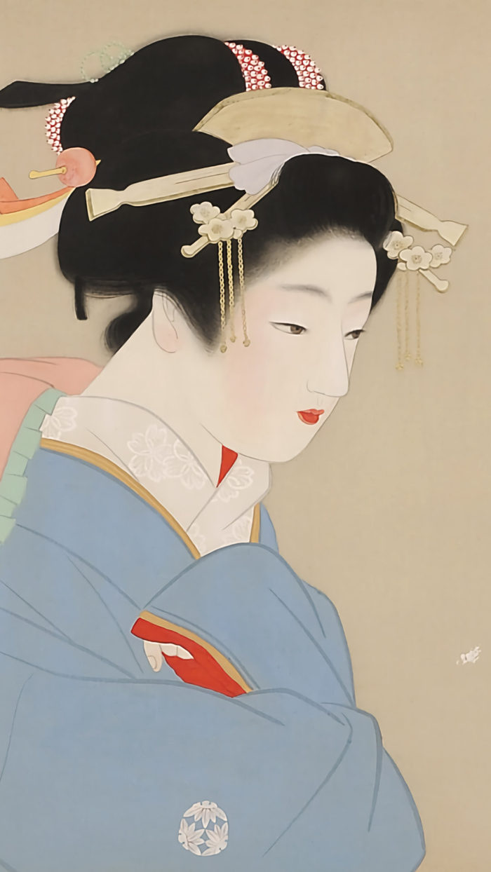 Uemura Shoen - Snow in the garden 1080x1920