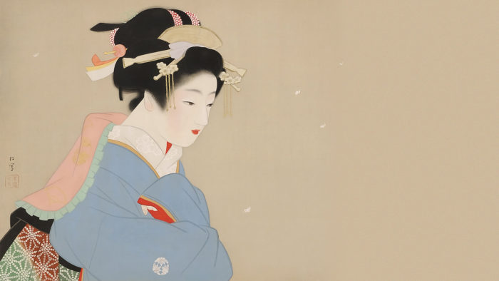 Uemura Shoen - Snow in the garden 1920x1080