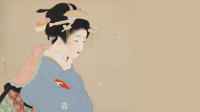 Uemura Shoen - Snow in the garden 1920x1080