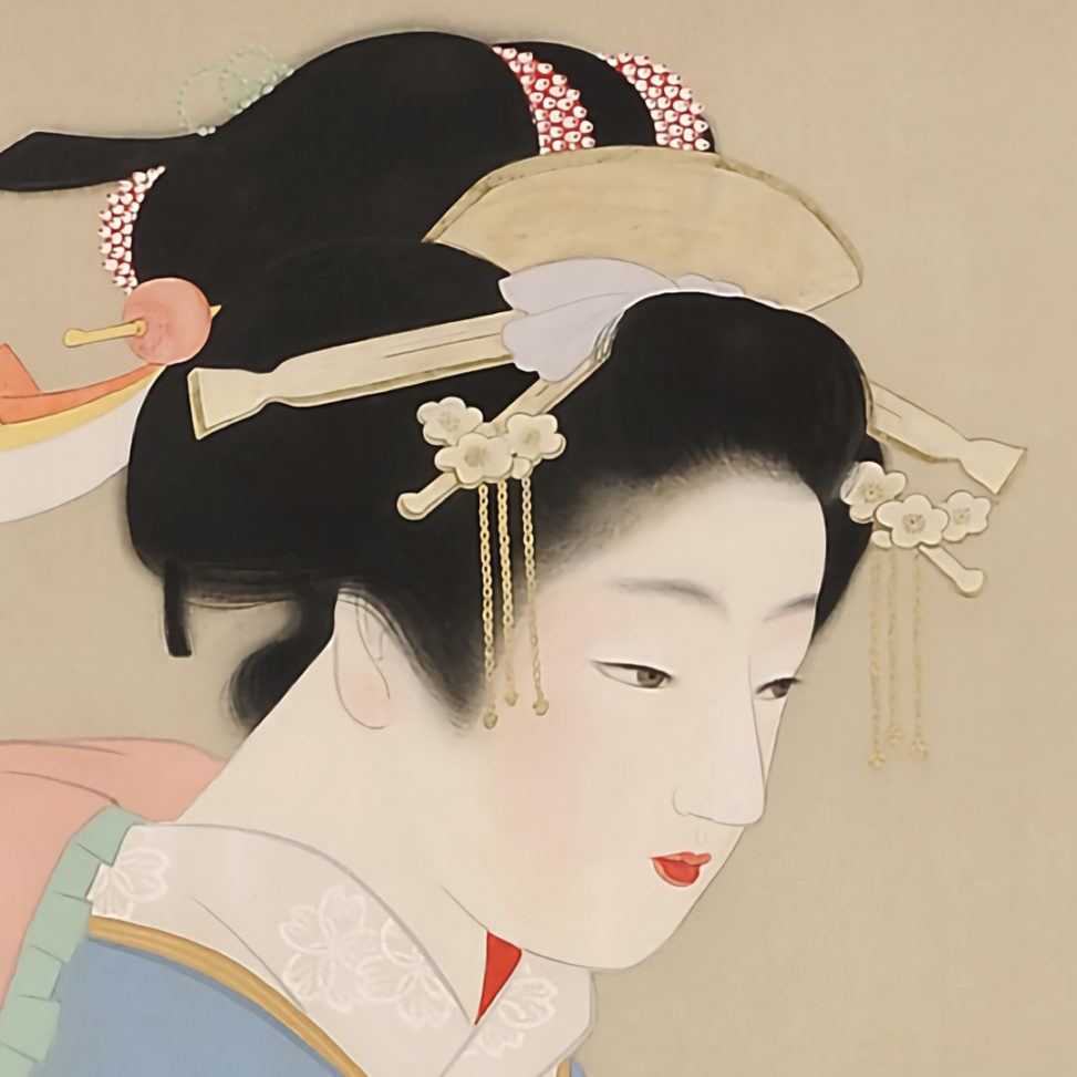 Uemura Shoen - Snow in the garden d