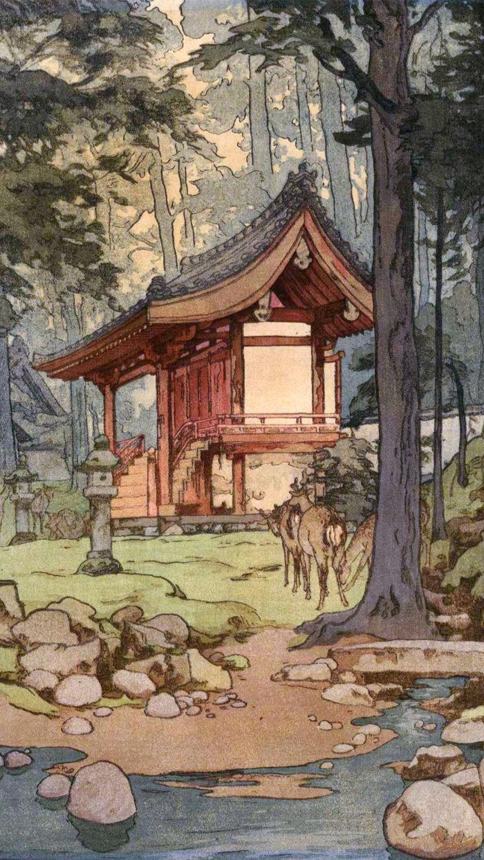 Yoshida Hiroshi - Shinrin no miya 1080x1920