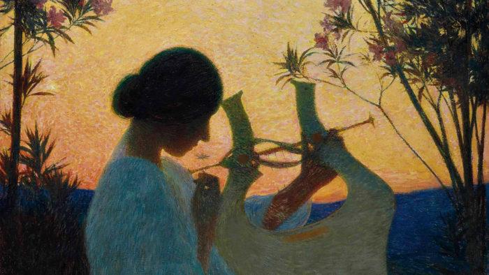 Henri Martin - Muse au crépuscule 1920x1080