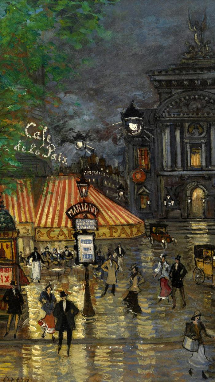Konstantin Korovin - Place de l'Opera, Paris 1080x1920