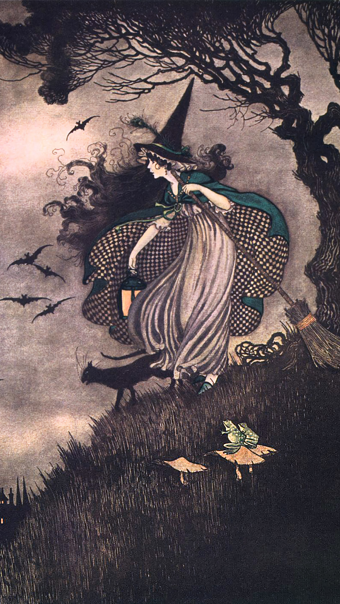 Ida Rentoul Outhwaite - Elves & Fairies witch 1080x1920
