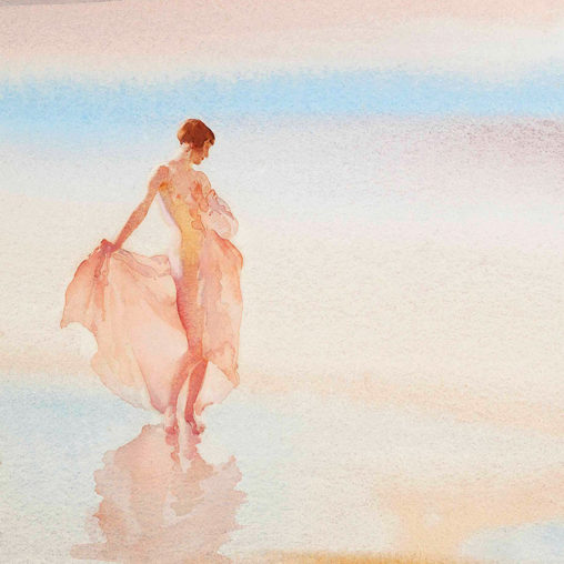 William Russell Flint - Beach Butterfly d